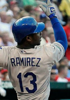 As of this writing, Hanley is 2 for 4 with a run an RBI in his Dodger debut against the Cardinals. Yum.